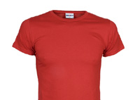 Körperbetontes T-Shirt mit Rundhals-Ausschnitt